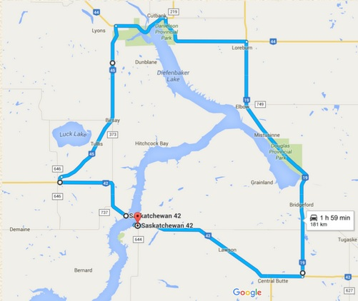 Lake Diefenbaker Loop